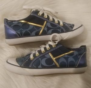 Navy Coach Shoes